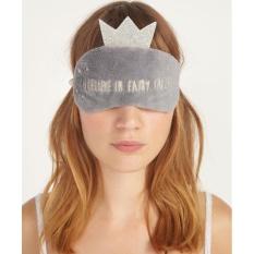 JUMPOVER Cute Crown Tidur Wajah Mata Masker Blindfold Pelindung Travelingsleep Eye (Grey)-Intl