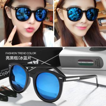 Harga rendah Kacamata Hitam Wanita Bentuk Bulat Gaya Retro Gaya ... e1bd5791f4