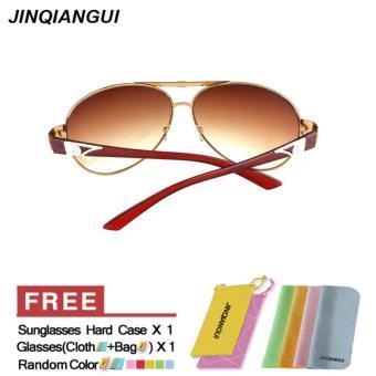 Harga Kacamata Hitam Wanita Penerbang Kacamata Matahari Coklat Desain Merek  Terbaru klik gambar. 8a8dcb04e9
