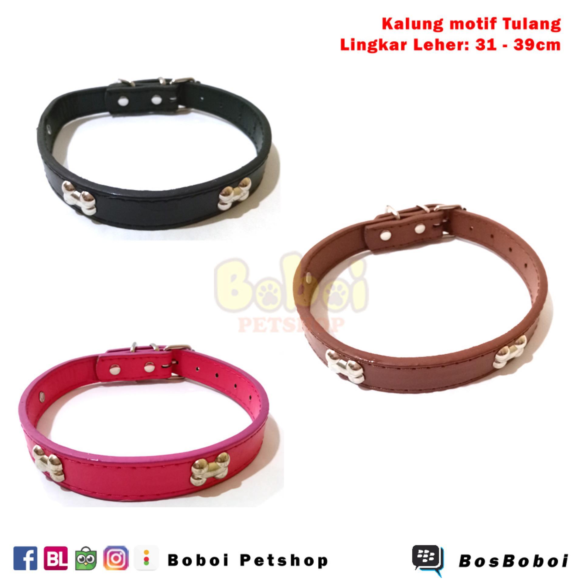 Flash Sale Kalung Anjing Kalung Kucing Dog Collar Cat Collar Leather Collar