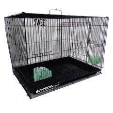 Kandang Kucing / Kelinci / Sugar Glider / Anjing Besar Besi Lipat Size L 60X50X42