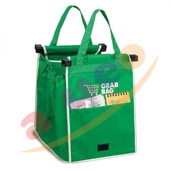 Kantong Belanja Serbaguna Grab Bag Single - Hijau - 3 Buah