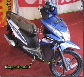 Karpet Motor Beat Sporty Esp - Kuning Gold - 2