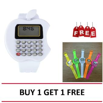 harga Kid's Watch Jam Tangan Kalkulator - Putih + Buy 1 Get 1 Free Lazada.co.id