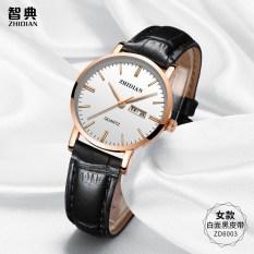 Korea Fashion Style perempuan waterproof jam tangan kulit pria jam tangan pasangan