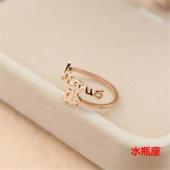 Harga Penawaran Korea Fashion Style Sendi Cincin Kelingking Titanium Baja Emas Mawar Jari Telunjuk Cincin Belanja