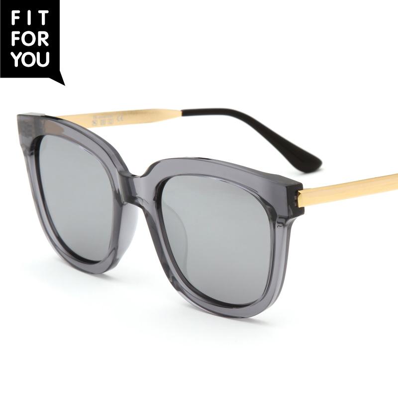 Korea Fashion Style warna perempuan Colorful matahari kaca mata kacamata bingkai besar