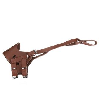 Kulit yang dapat disesuaikan moncong anjing peliharaan yang dapat mencegah gigitan masker mulut .