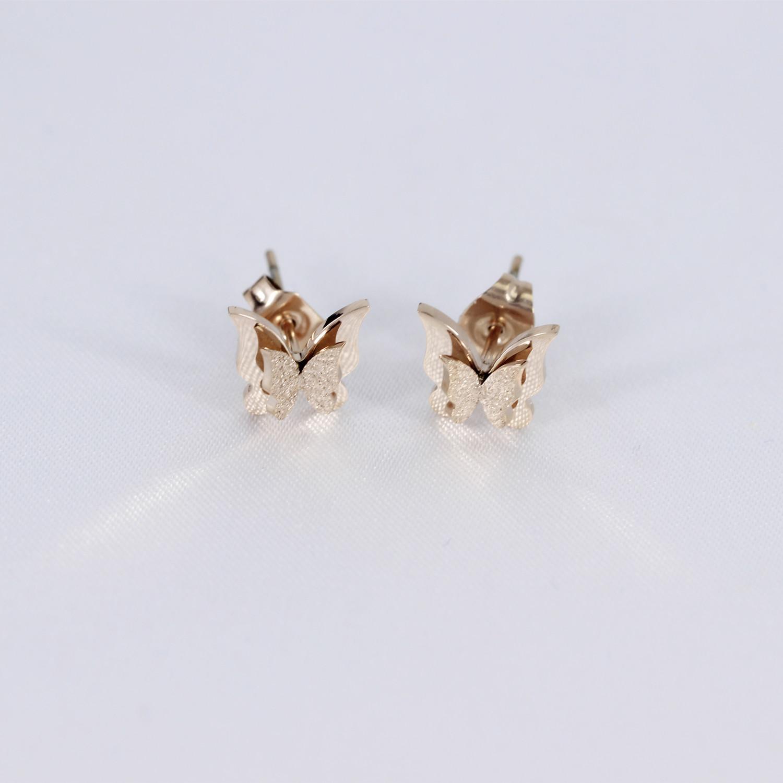 Kupu-kupu emas 18 k Jianyue perempuan style hari Korea Fashion Style anting-anting