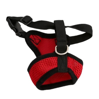 LALANG Adjustable Breathable Pet Dog Cat Harness Soft Collar Mesh Vest L(Red) - intl - 2