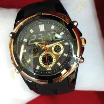 Lasebo - Dual Time - Jam Tangan Sport Pria - Rubber Strap LSB-9701