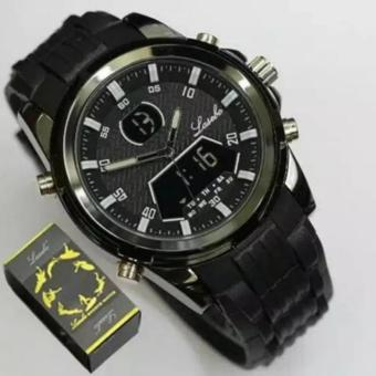 Lasebo - Dual Time - Jam Tangan Sport Pria - Rubber Strap -Water Proof -
