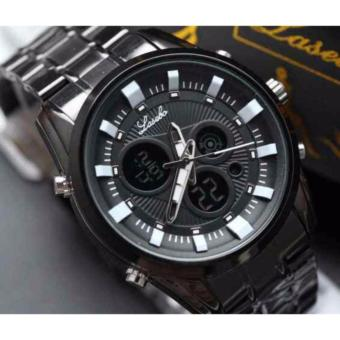 harga Lasebo - Jam Tangan Pria - Original - Dual Time - Full Rantai Stainless Steel -LSB6378G Elegant Lazada.co.id