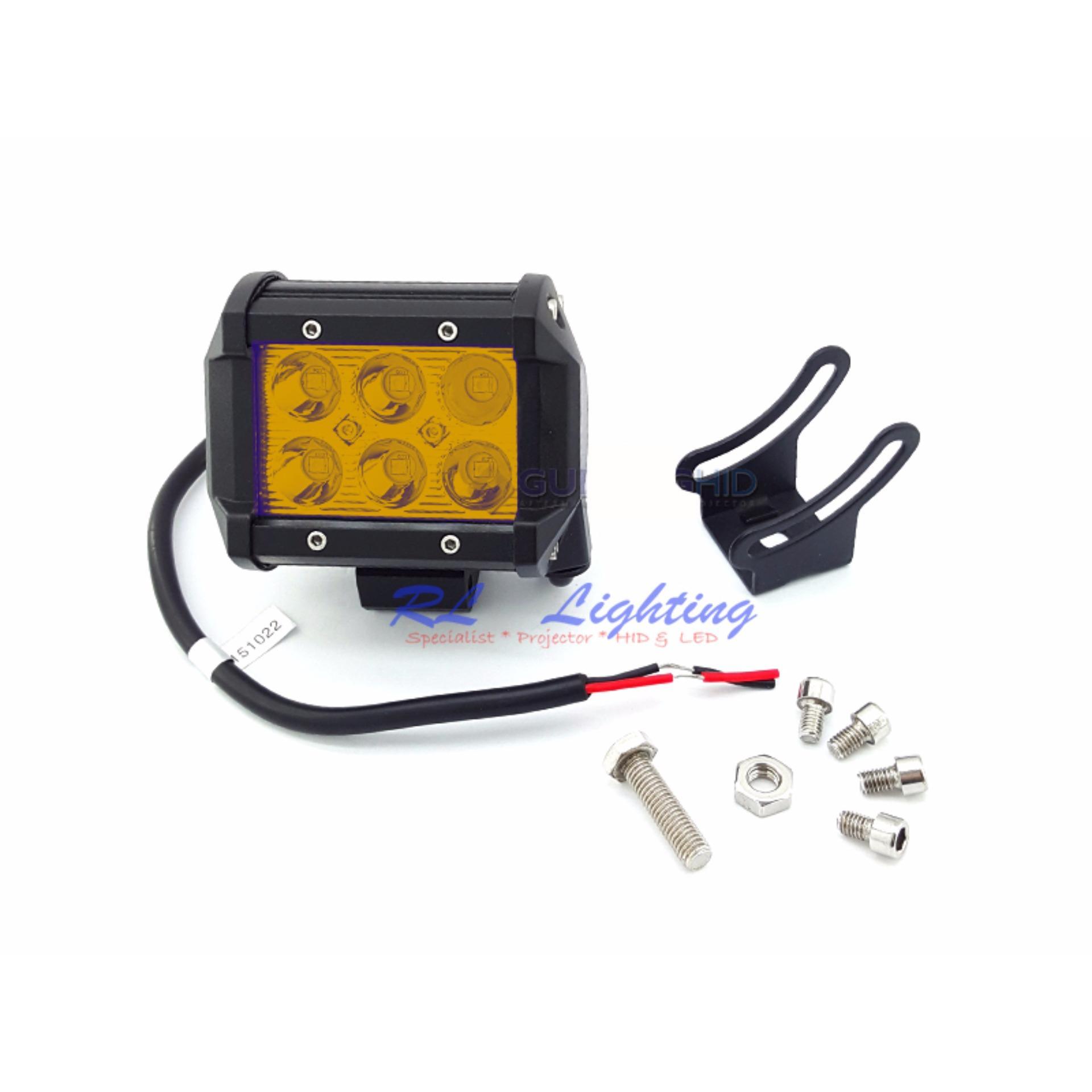... LED Lampu Tembak Sorot Worklight Cree Led Spot 6 Mata 18 Watt - Kuning ...