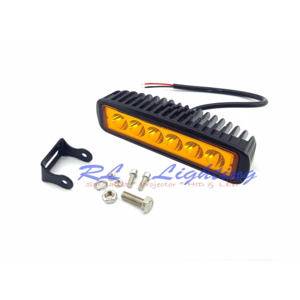 ... LED Lampu Tembak Sorot Worklight Cree Led Spot Lurus 6 Mata 18 Watt - Kuning ...
