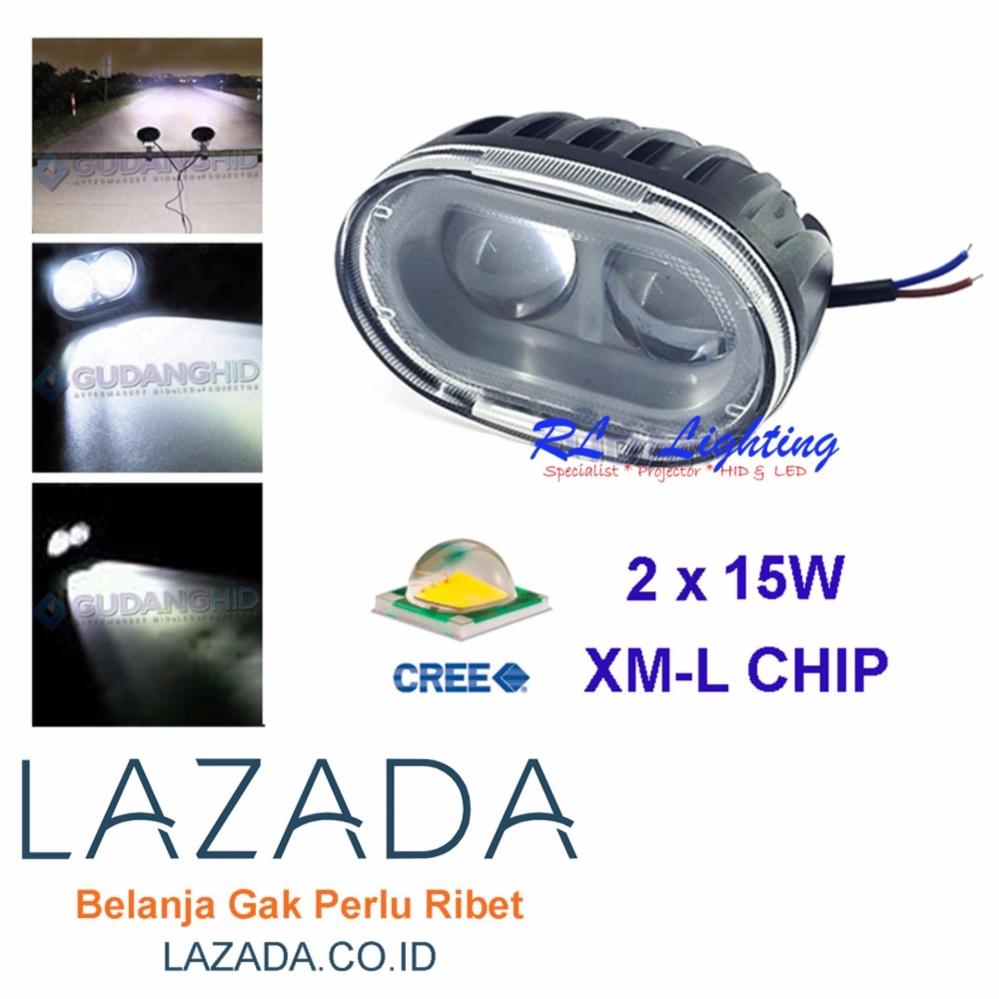 Lampu Sorot Tembak Led Cree U5 Transformer Light Motor Putih Owl 20w 2 Mata Lensa 4d