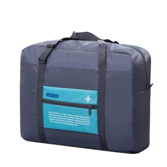 leegoal Large Capacity Folding Travel Storage Bag , Blue - intl