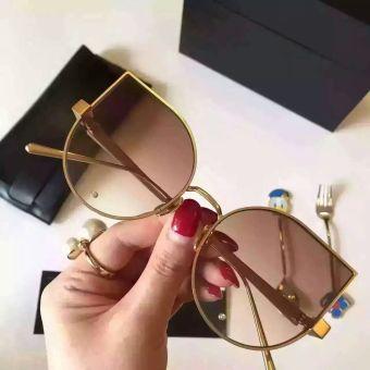Charming Kucing Mata Sunglasses 2017 Wanita 17 Warna Logam Kebesaran Source · Pencarian Termurah Li Li logam gradien warna baru kucing mata kacamata hitam ...