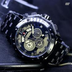 Limited Edition Swiss Army SA1000 Chrono Jam Tangan Pria Stainless Steel Strap ( Black )
