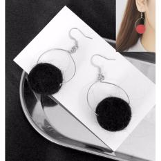 LRC Anting Gantung Trendy Fuzzy Ball Decorated Color Matching EarringsIDR14900. Rp 15.300