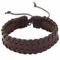 LRC Gelang Tangan Vintage Pure Color Decorated Hand-woven Simple Width Bracelet