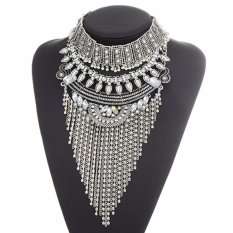 Rp 270.300. LRC Kalung Wanita Exaggerate Silver Color Square ...