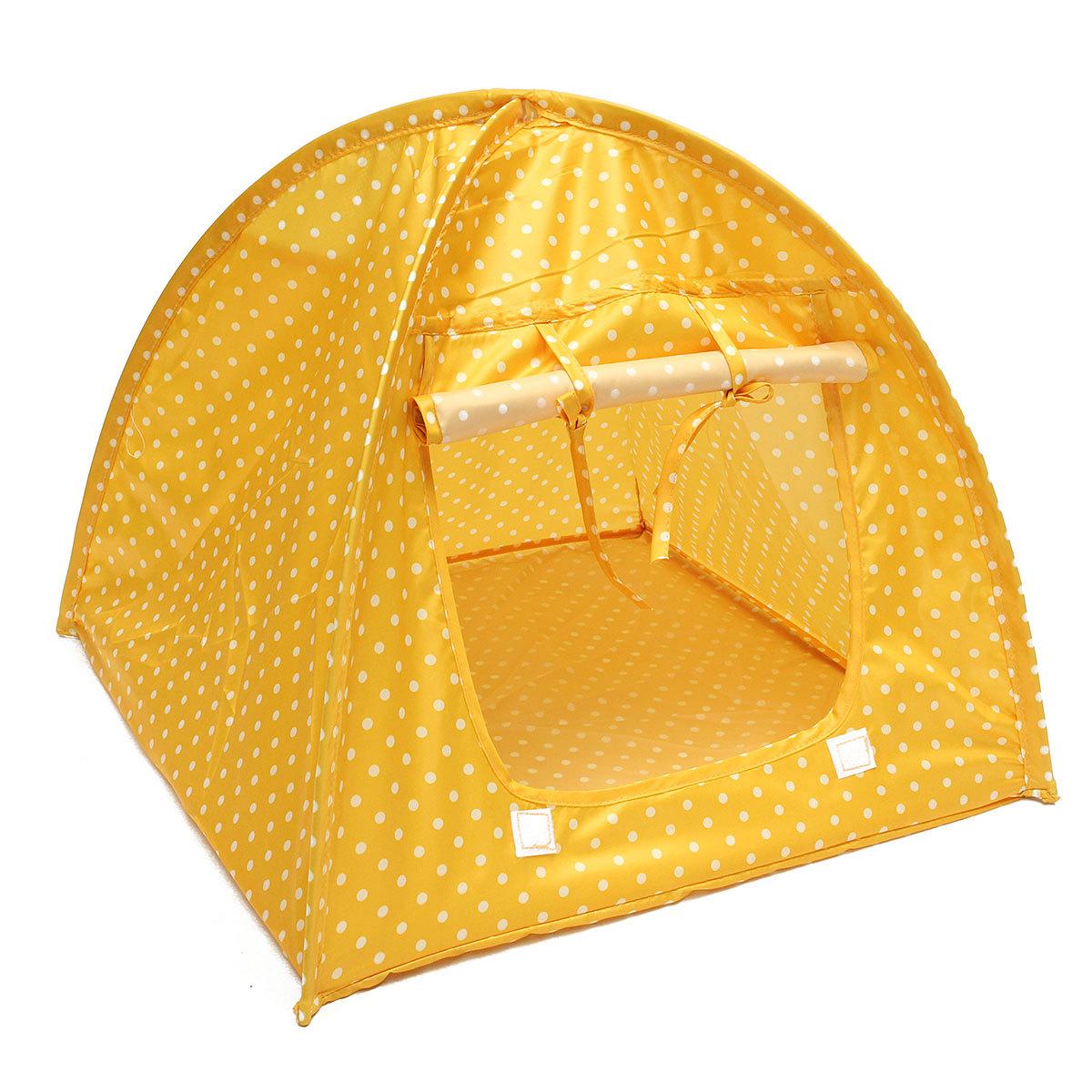 Luar Ruangan Kandang Lipat Kucing Pet Lembut Tempat Tidur Kucing Kamp Tenda Bermain .