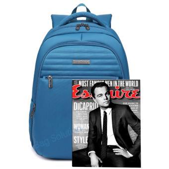 Detail Produk Luminox Tas Ransel Laptop Backpack Up to 15 inch Anti Air 5911 - Biru Bonus Jas Hujan
