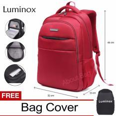 Luminox Tas Ransel Laptop Backpack Up to 15 inch Anti Air 5912 - Merah Bonus Jas Hujan