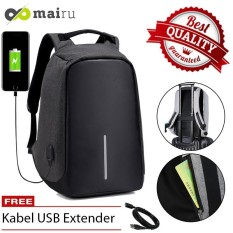 Mairu Tas Ransel Anti Maling Laptop Travel Backpack USB Charger Support Anti Theft Model XD