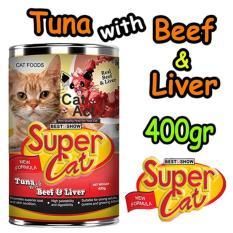 Makanan Kucing Murah SuperCat/ Super Cat Wet Food/Makanan Basah 400gr