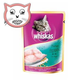 MAKANAN KUCING WHISKAS TUNA WET FOOD WISKAS 85 GRAM