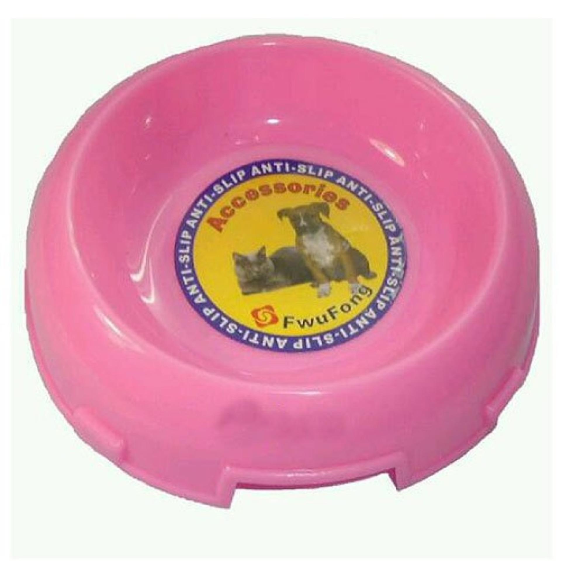 MANGKUK MAKAN KUCING ANJING Fwufong Bowl Cat Dish Round Flat