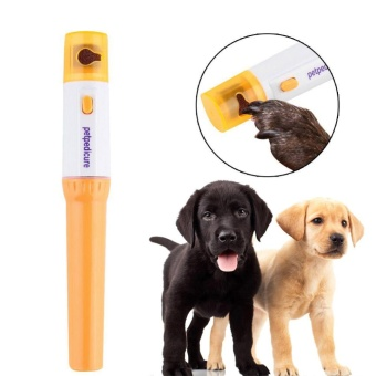 Manicure Pedicure File Kit Pet Dog Cat Nail Trimmer GrinderGrooming Electric - intl