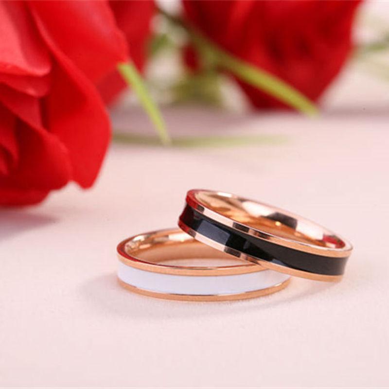 Masuknya orang 18 k Korea Fashion Style perempuan naik berlapis emas keramik cincin cincin