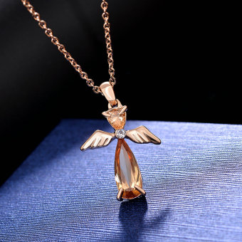Masuknya orang ke Jepang dan Korea Selatan perempuan malaikat liontin kristal Necklace
