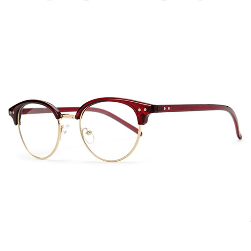 Masuknya orang retro perempuan setengah bingkai miopia rak bingkai kacamata  frame kacamata 119d55e98f
