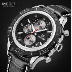 MEGIR Jam Tangan Pria Sport Premium Waterproof Quartz ML 2019 GBK-1 - Black