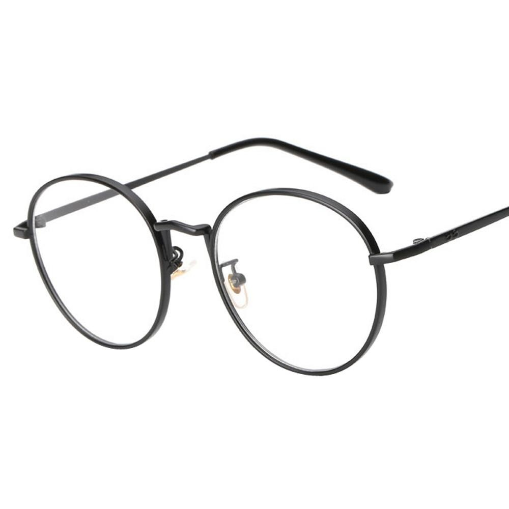 ... Men Women Clear Lens Glasses Metal Spectacle Frame Myopia Eyeglasses Glasses - intl ...