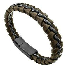 Genuine Leather Bracelet Source Leather Bracelet Titanium Steel Source Jual Pria Fashion Gelang .