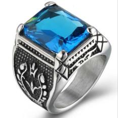 ... Warna Hati Liontin Berlian Imitasi Kristal Kalung Fashion Perhiasan untuk Wanita. Source · Pria Kristal Cincin Stainless Steel Gotik Klasik Biru Perak .