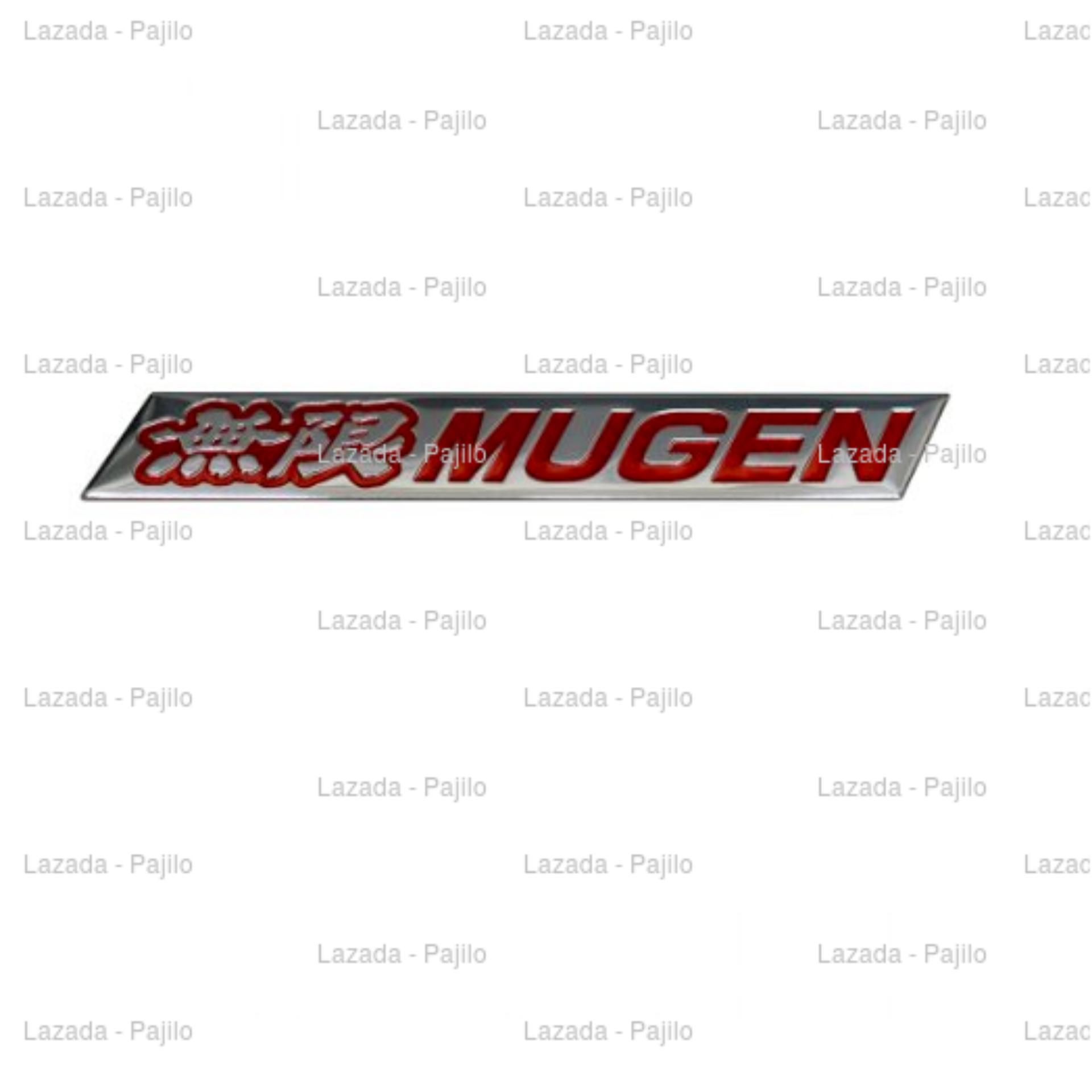 Cheap online Merah - Emblem Spoiler Honda Mugen Mobil Metal Sticker Stiker SetirJazz Brio Satya Mobilio
