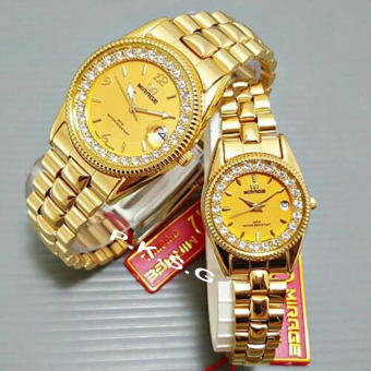 Mirage - Jam Tangan Couple - Diamond - Gold - MRG 2621
