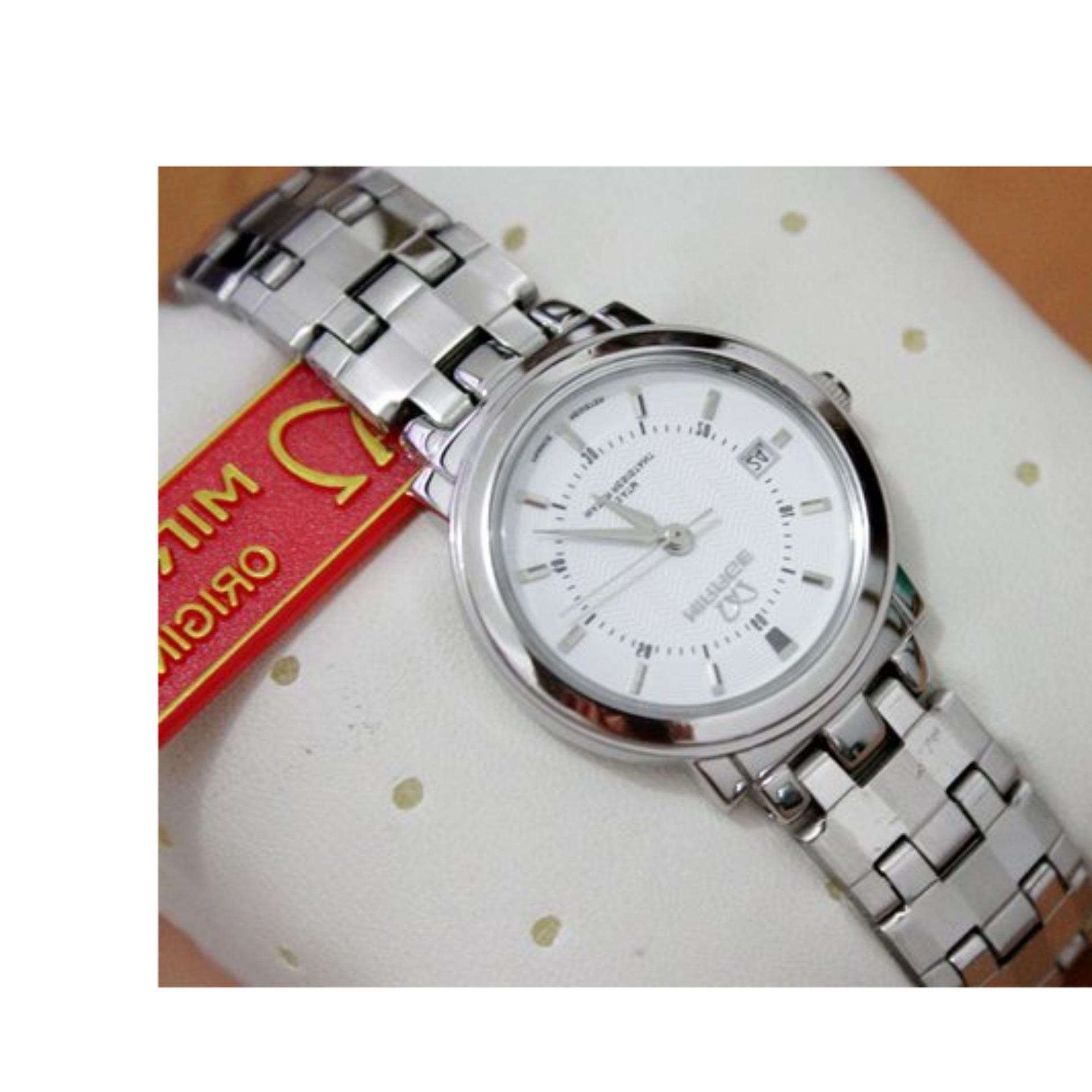 Mirage Jam Tangan Wanita Original 8152 Brp L White Daftar Info Japan Technology 7380 Strap Stainless Silver Lazada Indonesia