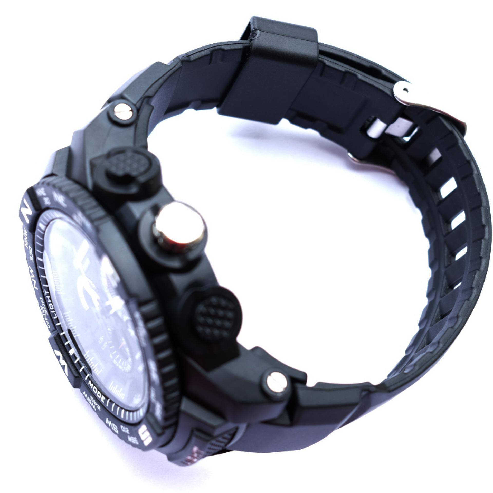 Mirage Men Sport Watch Dual Time 1672 .