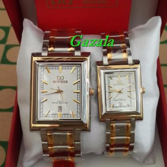 Mirage MR3198 - Jam Tangan Couple Murah - Full Stainlesstell - Waterresist