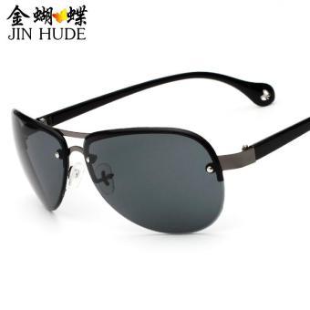 Mode baru terpolarisasi kacamata mengemudi kacamata Olahraga Outdoor  Eyewear - Grey 21ca3fb956