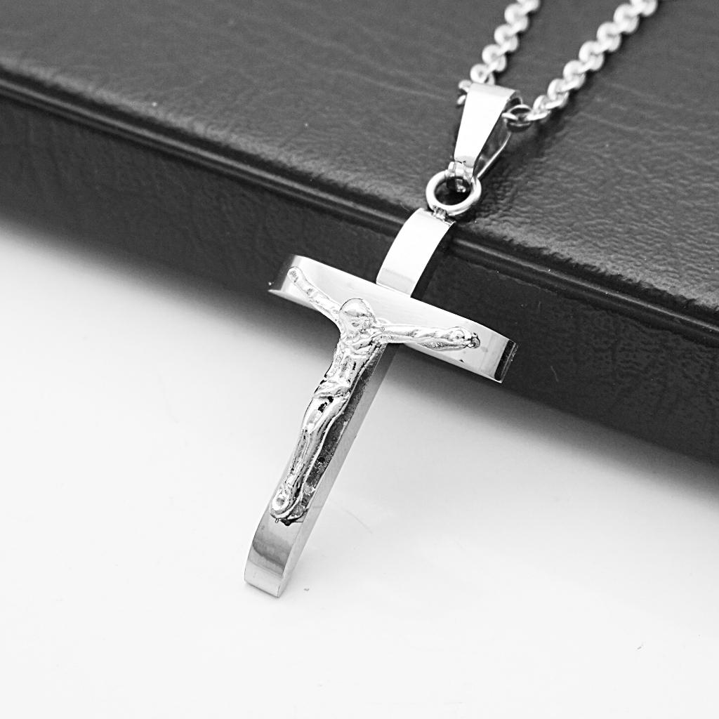 Harga Jual Sederhana Kristen Titanium Baja Kalung Salib 43000 Black Allwin Adapula Aji Perak Rosario Pasangan