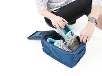 Monopoly - Tas Sepatu dan Sandal - Travel Pouch Navy