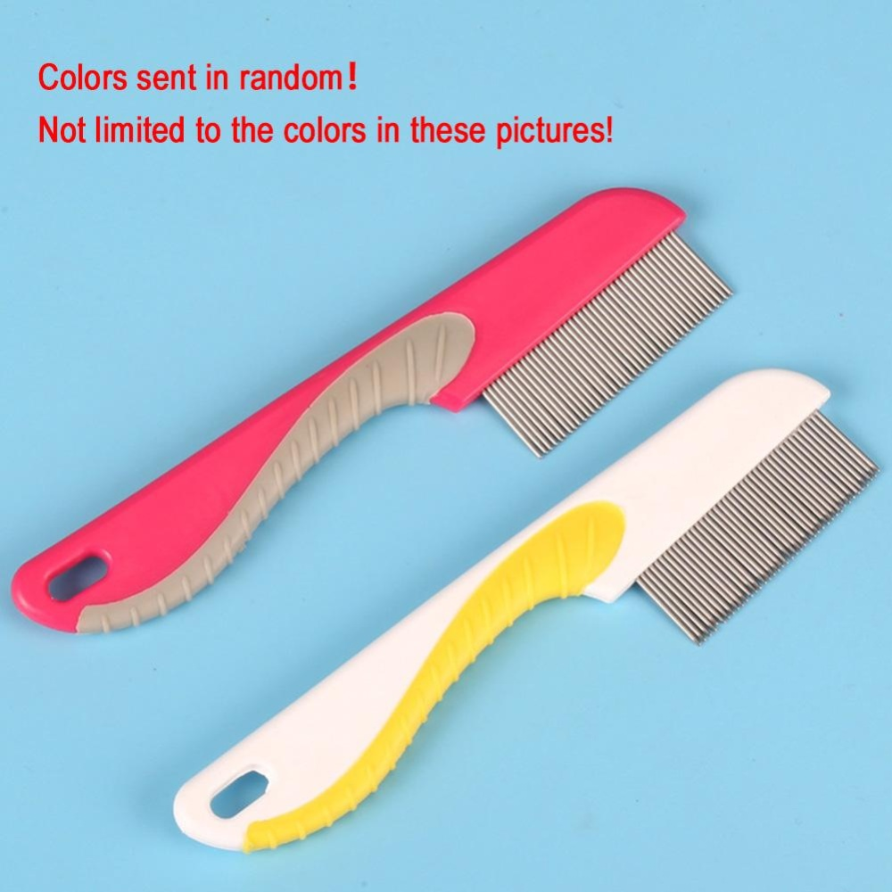 Moonar Pet Hair Flea Comb Dog Cat Stainless Pin Comb Grooming Cleaning Tool Toothed Flea Comb - intl